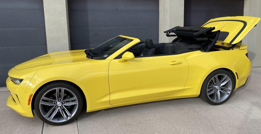 SmartTOP additional convertible top control for Chevrolet Camaro
