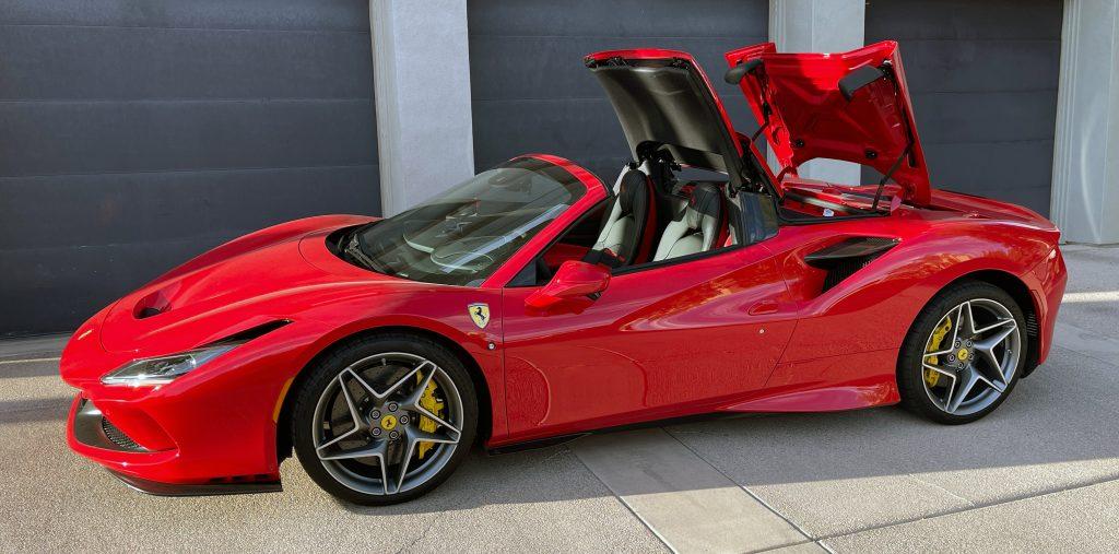 SmartTOP additional convertible top control for Ferrari F8 Spider