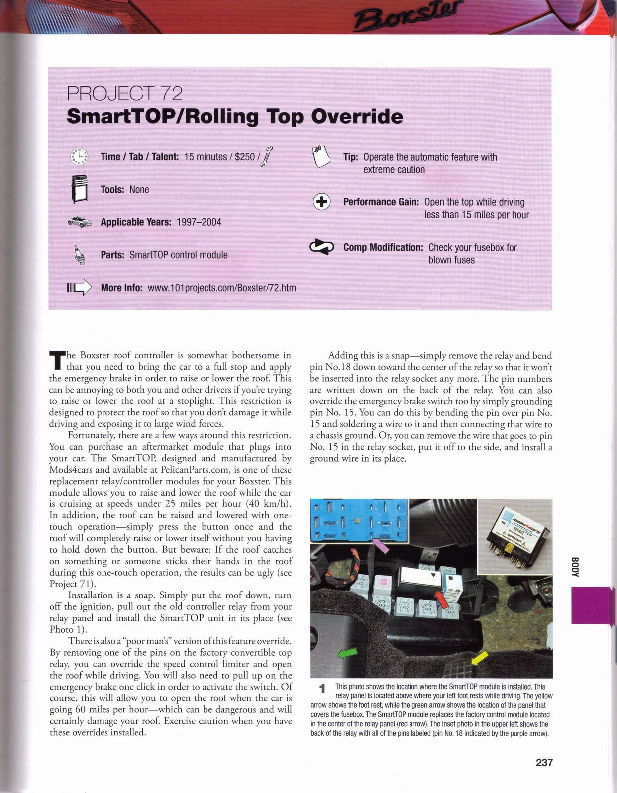 Mods4cars Online Shop Porsche Boxster Fuse Box 101 Projects 2010